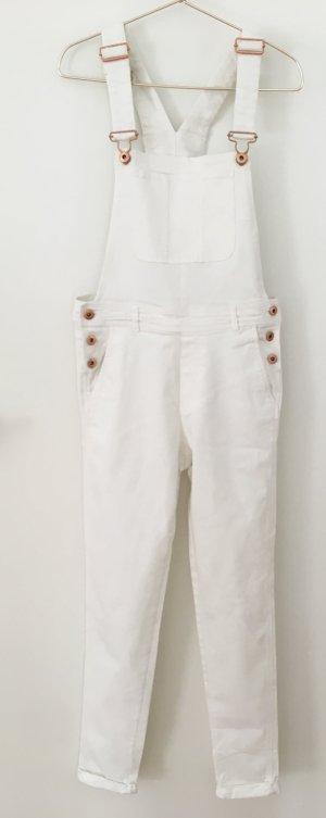 H&M Salopette en jeans blanc