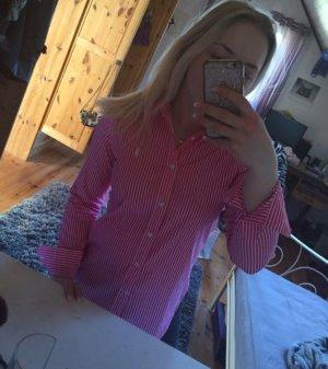 Weiß Pink Gestreiftes Ralph Lauren Hemd
