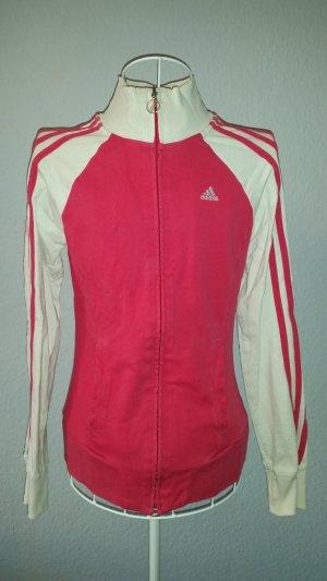 Weiß pinke Adidas Trainingsjacke XS 34