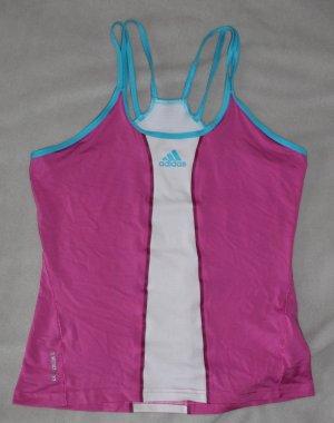 Weiß pinkes blaues Adidas Sporttop Gr. 40