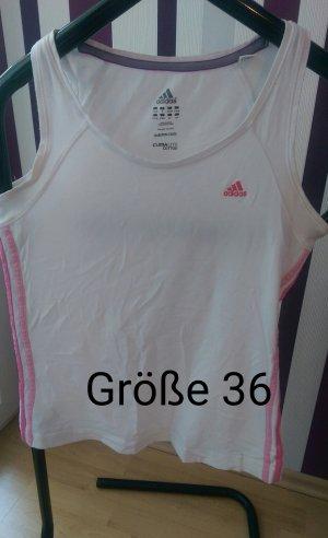 weiß-rosa Adidas Top