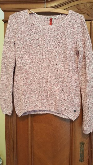 QS by s.Oliver Sweater wit-baksteenrood
