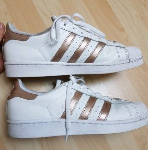 weiß Rose goldenen Adidas Superstars 40