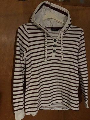 Hooded Sweater white-bordeaux cotton