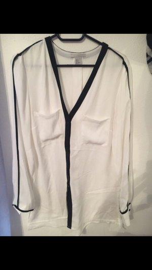Weiß schwarz Bluse h&m