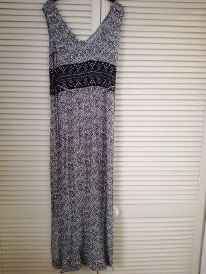 Maxi-jurk zwart-wit