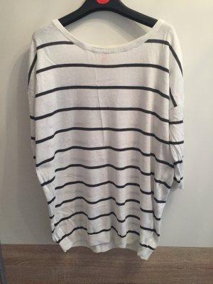 Weiss schwarz gestreift Pullover
