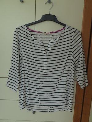 Weiß-Schwarz gestreifte Bluse von Tom Tailor Denim, Gr. 40 (L)