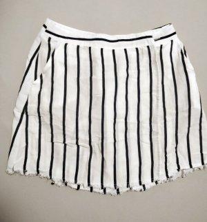 Wraparound Skirt white-black