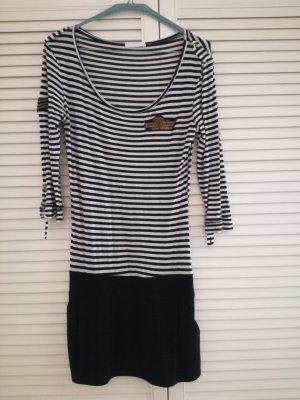 Weiß schwarz gestreiftes Kleid