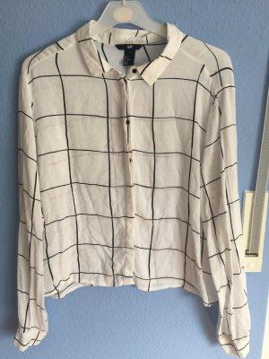 Weiß/schwarz karierte Bluse/Holzfällerhemd von H&M
