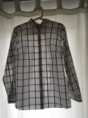 Weiß-schwarz karierte Bluse von Walbusch