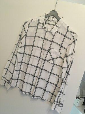 Weiß schwarze Bluse