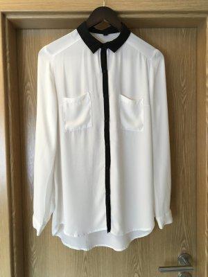 Weiß-schwarze Bluse Gr.38