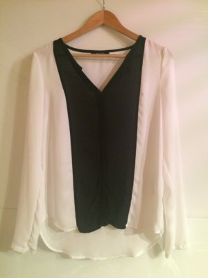 Weiß-schwarze Bluse von Vila
