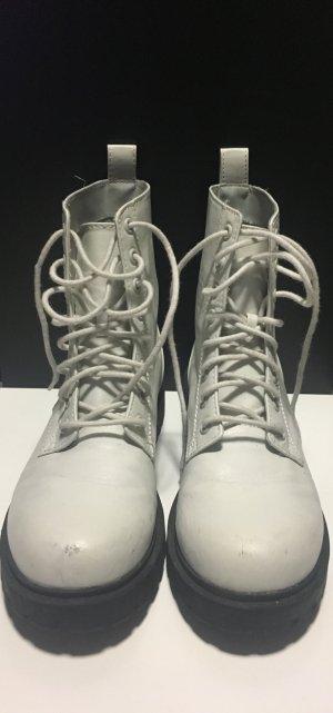 weiß schwarze boots