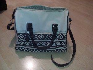Weiß/Schwarze Handtasche