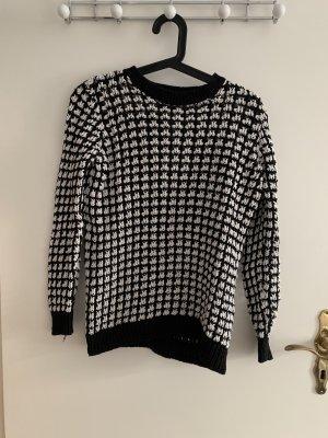 Weiß Schwarzer Pullover von Marks & Spencers Limited Edition