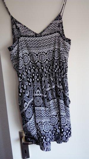 H&M Tuta bianco-nero Cotone