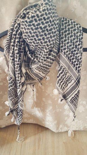 Weiß/schwarzer XL Schal