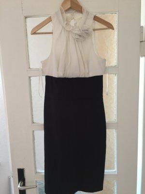 Weiß/Schwarzes elegantes Kleid