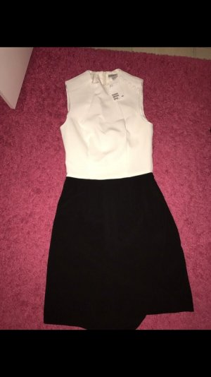 H&M Midi Dress white-black