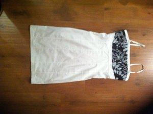 Weiß/schwarzes Kleid! Mit Pailletten