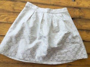 Weiß-silberner Minirock von Hollister