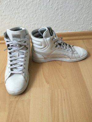 Weiß Silberner Puma Sneaker