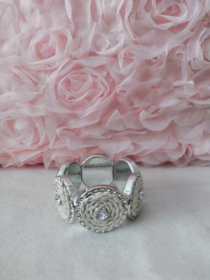 Weiß Silbernes Armband