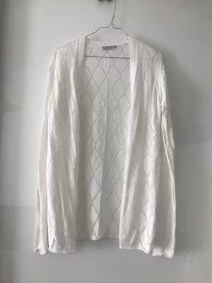 Blue Motion Cardigan white
