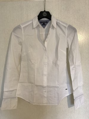Weiß taillierte Bluse Tommy Hilfiger