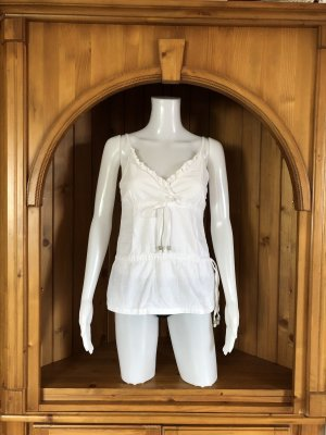 Weiß Träger Top Bluse