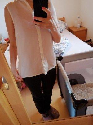 Bodyflirt Mouwloze blouse wit