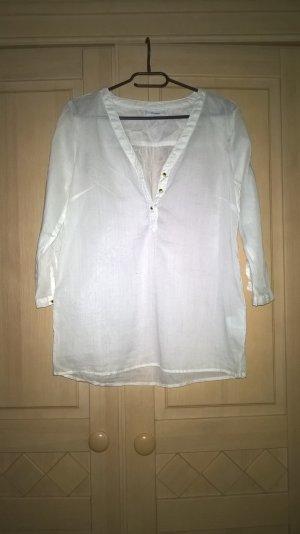 weiße 3/4 Ärmel Bluse
