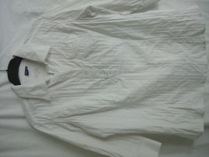Weiße 3/4 arm Bluse