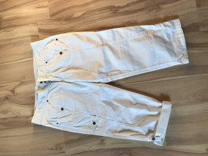 Weiße 3/4 Baumwolle Hose