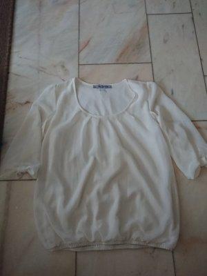 Weiße 3/4-Bluse
