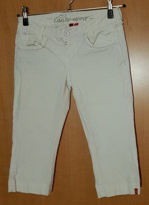 edc by Esprit Pantalone a 3/4 bianco