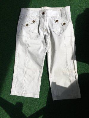Weiße 3/4 Jeans