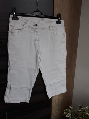 Jeans a 3/4 bianco