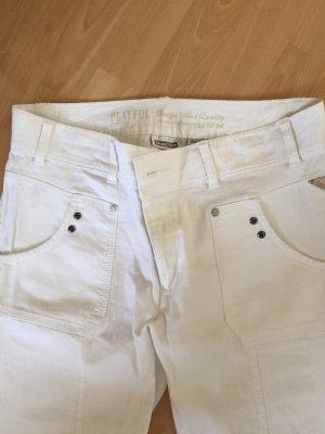 Weiße 3/4 Jeans von Street One in Größe 32