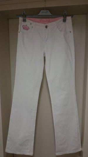 Weiße 5-Pocket-Jeans
