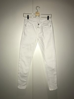 Weiße 7/8 Skinny Jeans von Zara