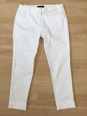 Zara Woman Pantalon 7/8 blanc coton