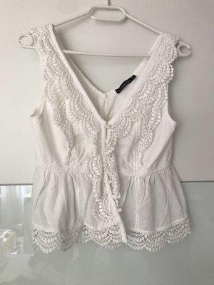 Weiße Abercrombie & Fitch Bluse mit Spitze