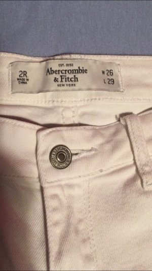 Weiße Abercrombie & Fitch Hose
