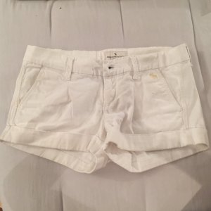 Weiße Abercrombie Shorts zu verkaufen!