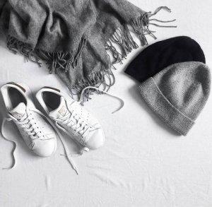 Adidas Originals Basket à lacet blanc-doré cuir