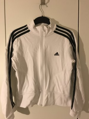 Weiße adidas Trainingsjacke